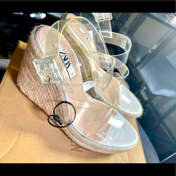 Zara clear platform sandals